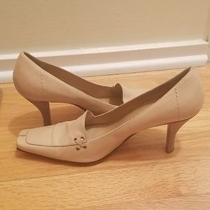 Nine West Leather Heels- Nude